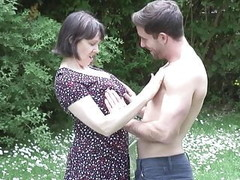 MATURE NL mom son outdoor sex Thumb