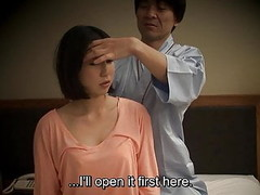 Subtitled Japanese hotel massage oral sex nanpa in HD Thumb