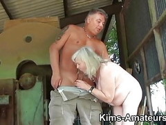 72 year old granny gives a blowjob and gets fucked Thumb