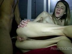 Young Couple Mutual Masturbation Hairy Pussy Thong Bulge Thumb