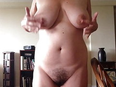 cumming very hard in my living room Thumb