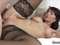 German MILF in Stockings Fuck with Young Teen with Big Dick Thumb
