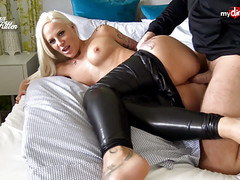 My Dirty Hobby - Busty ass fucked in leather pants Thumb