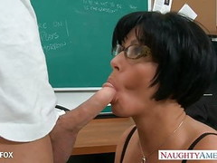 MILF in glasses Shay Fox fuck in class Thumb
