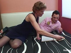 Mature slut with glasses enjoys getting fucked Thumb