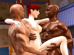 3D interracial cuckold gangbang and cave exploring pincess g Thumb