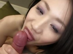 Subtitled uncensored Japanese amateur blowjob and sex in POV Thumb