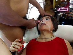 lady in red in anal gangbang with three mistress Thumb