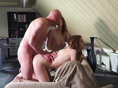 Old Young Threesome beautiful girlfriends fuck swallow cum Thumb