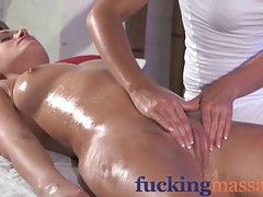 Massage Rooms Clit rub for her orgasm with masseuse Thumb