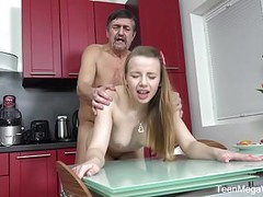 TeenMegaWorld -Old-n-Young- Older man cums on fresh tits Thumb