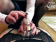 Sissy trapped in chastity and stockings Thumb