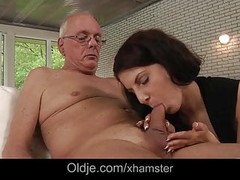 70 old fart 69 with young brunette whore Thumb