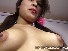 PUTA LOCURA Hot Busty 18 YO Teens in Amateur Bukkake Thumb