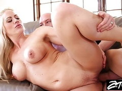 Big tit blonde MILF is getting revenge on her husband Thumb