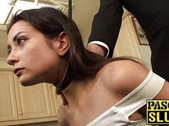 Pretty submissive slut tied up and ass rammed by maledom Thumb