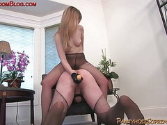 Blonde Mistress Femdom Pantyhose Foot Fetish Thumb