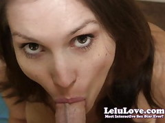 Lelu Love-Closeup POV Blowjob Swallow Thumb
