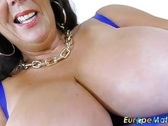 EuropeMaturE Busty Grandma Lulu Solo Masturbation Thumb