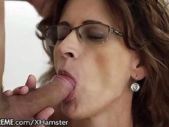 Glasses GILF Loves Taking Young Studs Cock Thumb
