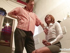 German MILF Seduce to Fuck by Younger Man on Work Thumb