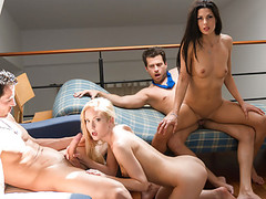 LETSDOEIT - Swinger Party Turns into Wife Swap Foursome Thumb