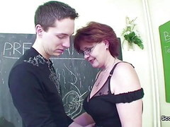 Female Sex Teacher Seduce Young Boy to Fuck her MILF Pussy Thumb