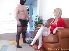 Mistress Alexis tall blonde Dominatrix punishes Thumb