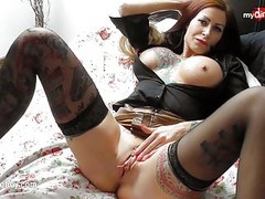 My Dirty Hobby - Busty tattoed MILF enjoys a fat cock Thumb