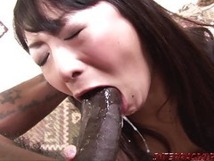 Asian wife hammered by big black cock and swallows Thumb