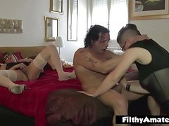 Squrting and Double Penetration! Nasty italian milf! Thumb