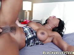 Tasty ebony schoolgirl gets fucked and fed with cum Thumb