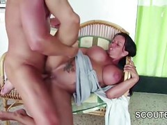 German Step-Son Seduce to Fuck His Big Tit Mom in Sextapes Thumb