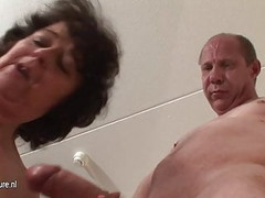 Old granny fucked by two grandpas Thumb