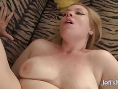 Blonde plumper Ilena Kuryakin rides on a fat cock Thumb