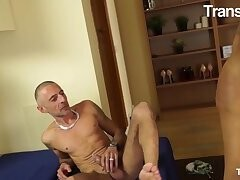 TRANSBELLA - Big Booty Asian Tranny Emily Goud Has Flip Flop Fun With Her Guy Thumb